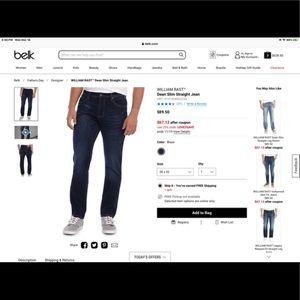 *BRAND NEW* William Rast Dean Slim Straight Jeans